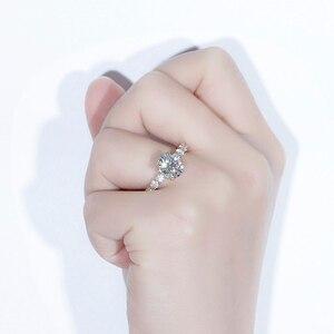 Image 4 - TransGems 高級 18 18K イエローゴールド 2ct 9*7 ミリメートル優れたオーバルカット F 色モアッサナイトの婚約指輪女性と永遠バンド