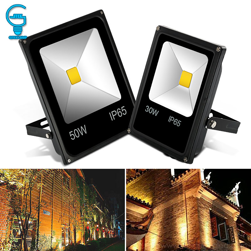 LED Flood Light 10W 20W 30W 50W 220V 240V Floodlight Wall Exterieur Lamp Projector Reflector Outdoor Lighting
