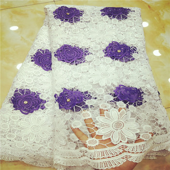 2019 African Guipure Cord Lace High Quality Embroidery Lace Fabric For Women Wedding Dress    BK019