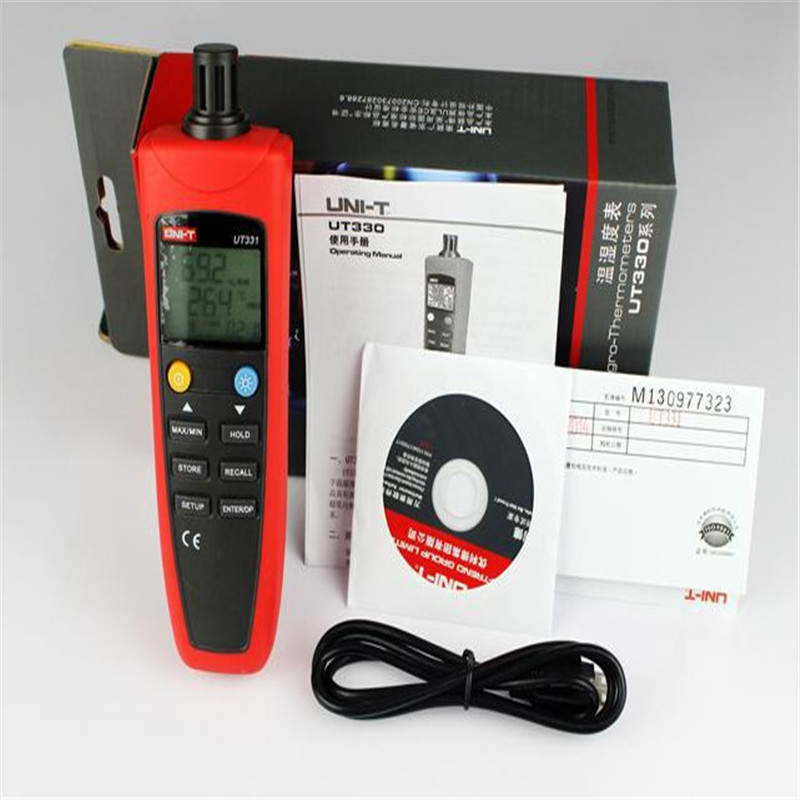 ФОТО UNI-T UT331 Digital Thermo-hygrometer Thermometer Temperature Humidity Moisture Meter Tester w/LCD Backlight & USB