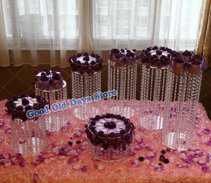7pcs Acrylic Cupcake Cake Round Cupcake Holder Stand for Wedding Birthday Party Christmas Decor cake Display Stands