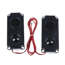 2 piezas portátil doble 10045 LED TV altavoz 8 Ohm 5 W audio diafragma bajo altavoz(China)