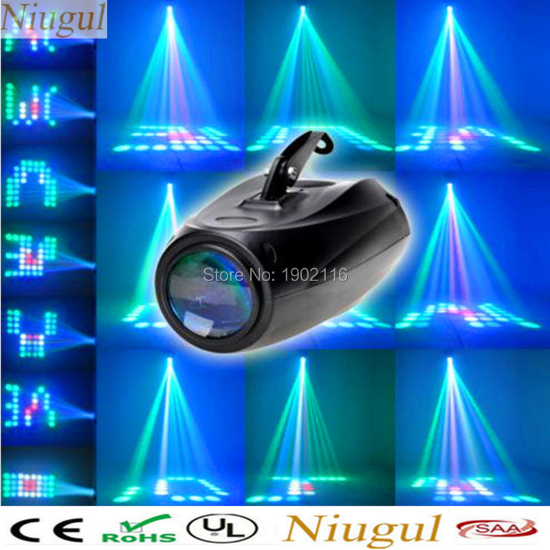 Niugul Free shipping 10W 64 LED RGBW Mini LED Small Airship Stage Lighting Party Wedding Show Club Bar DJ Disco 64 LEDs Light
