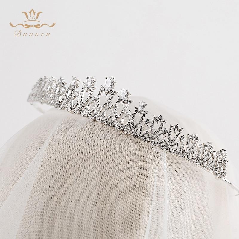 Nuset e Modës Bavoenë, Argjendë Evropiane Tiara për Flokët e - Bizhuteri të modës - Foto 5