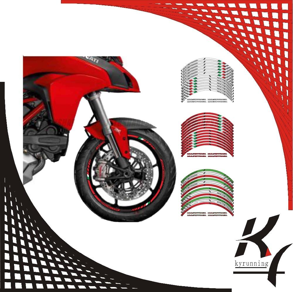 12 X Kyrunning Thick Edge Outer Rim Sticker Stripe Wheel