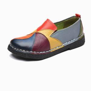 Image 5 - Женские лоферы из натуральной кожи GKTINOO, Модные Разноцветные Повседневные туфли ручной работы, мягкая удобная обувь на плоской подошве