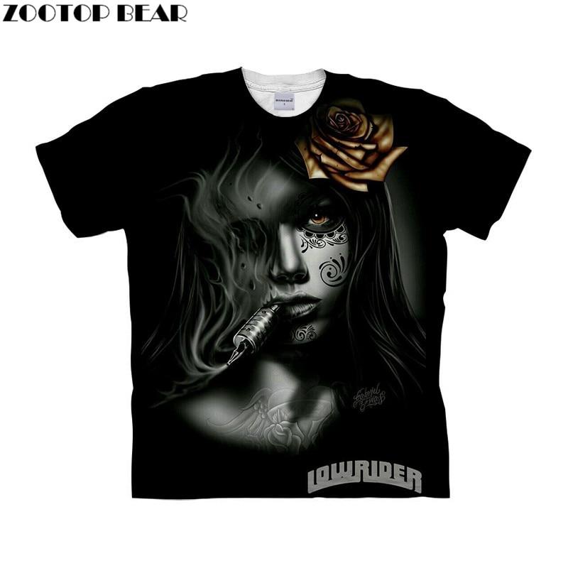 Beauty Printed tshirt 3d t shirt Mens t-shirt Brand Top Tee Short Sleeve Tee Homme Camiseta Black Tshirts Drop Ship ZOOTOP BEAR