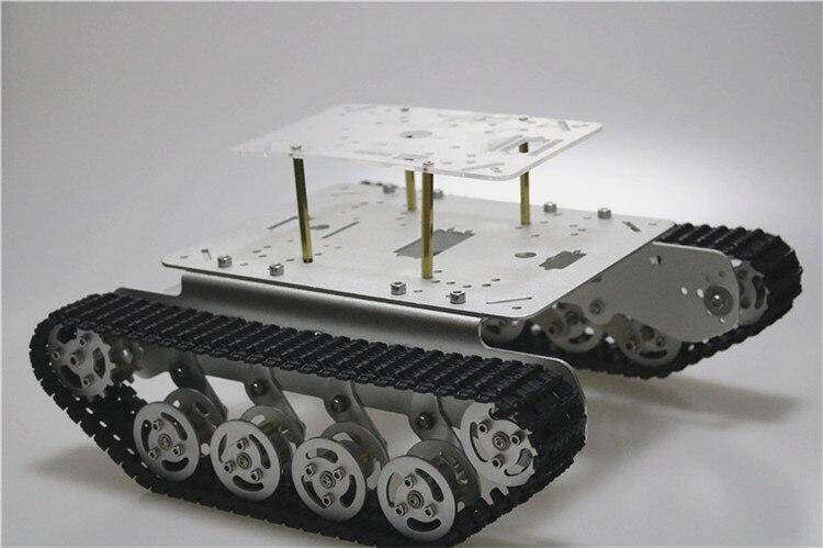 TS100 amortisseur métal réservoir châssis avec cadre acrylique gratuit pour Arduino voiture kit de bricolage enseignement Platfrom éducation enseignement