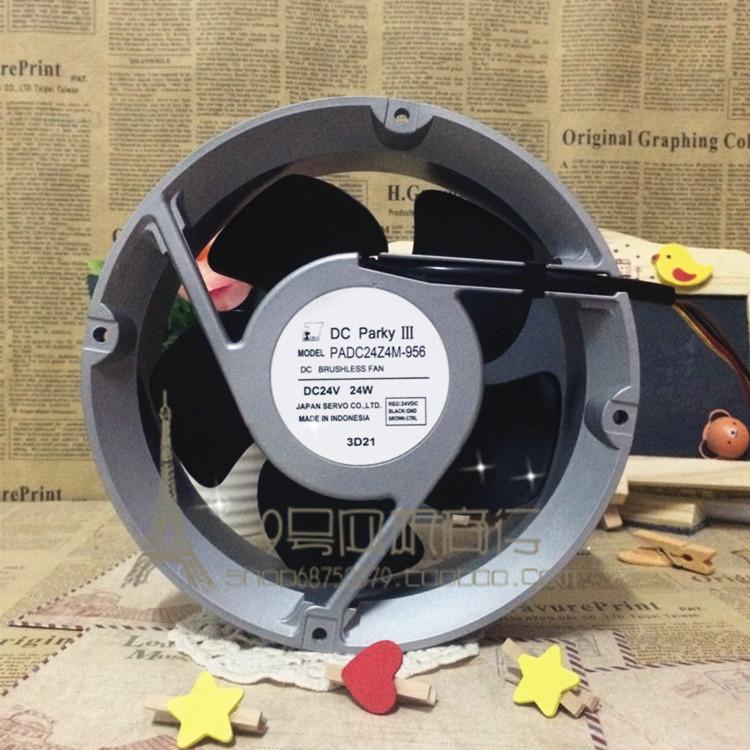 Original PADC24Z4M-956 17CM 17050 24V 24W 170 * 170 * 50MM double ball bearing fan