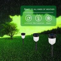 Solar Panel LED Spike Light Waterproof Spot Light Landscape Garden Yard Path Lawn Decor Lamps Outdoor Grounding Light
