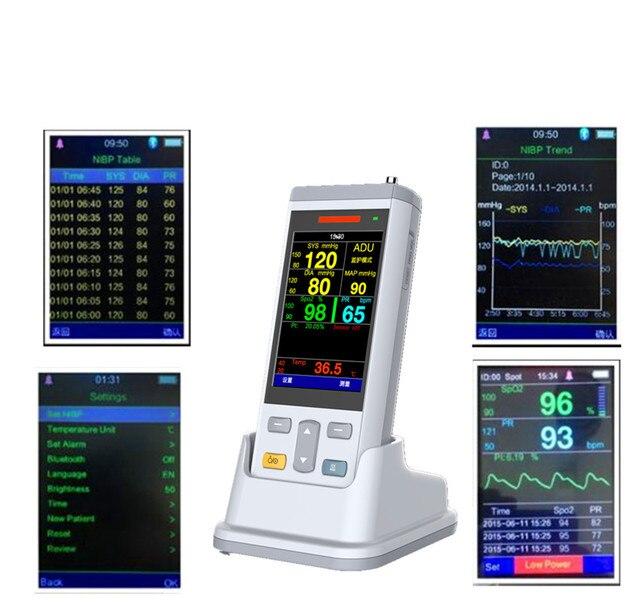 3.5inch color TFT handheld Vital Signs Monitor Health Vital Sign Monitor, Emergency Medical  Ambulance Patient Monitor