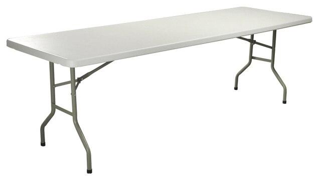 Tavoli Pieghevoli Per Ristoranti.Hdpe Di Plastica Pieghevole Tavolo Da Pranzo Rettangolare Per Hotel