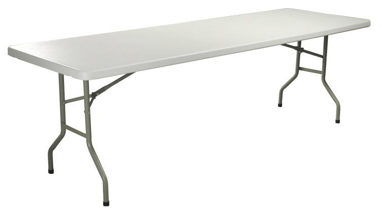 Buy hdpe plastic folding dining table for Cuisine table retractable