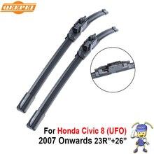 "QEEPEI Rascador Para Honda Civic 8 (OVNI) 2007-2016 26 ""+ 23""R Iso9000 De Caucho Natural de Alta Calidad Limpia Parabrisas Delantero CPU2"