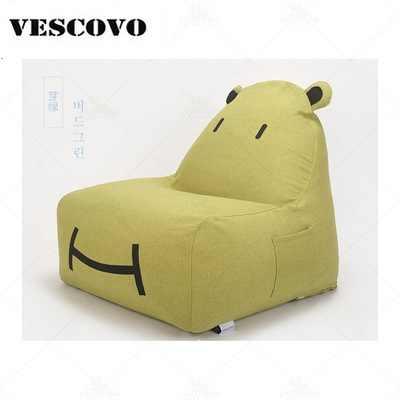 Mobília da sala de Sofá do Saco de Feijão Espreguiçadeira Cadeiras de assento dos desenhos animados assento preguiçoso Pufes Com Enchimento