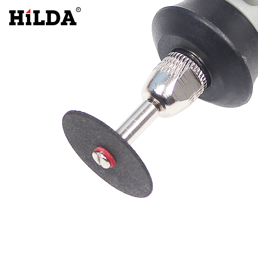 HILDA 36pcs Resin Cut-off Wheel Cutting Disc Kit For Dremel Rotary Hobby Tool Bit Dremel Accessories Plus 2 Pcs Mandrel