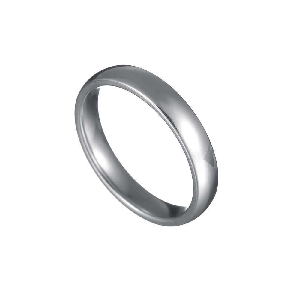 Personalized Gold/Silver/Black Wedding Bands Ring for Women Men Jewelry 4mm Stainless Steel Engagement Ring Anniversary Gift