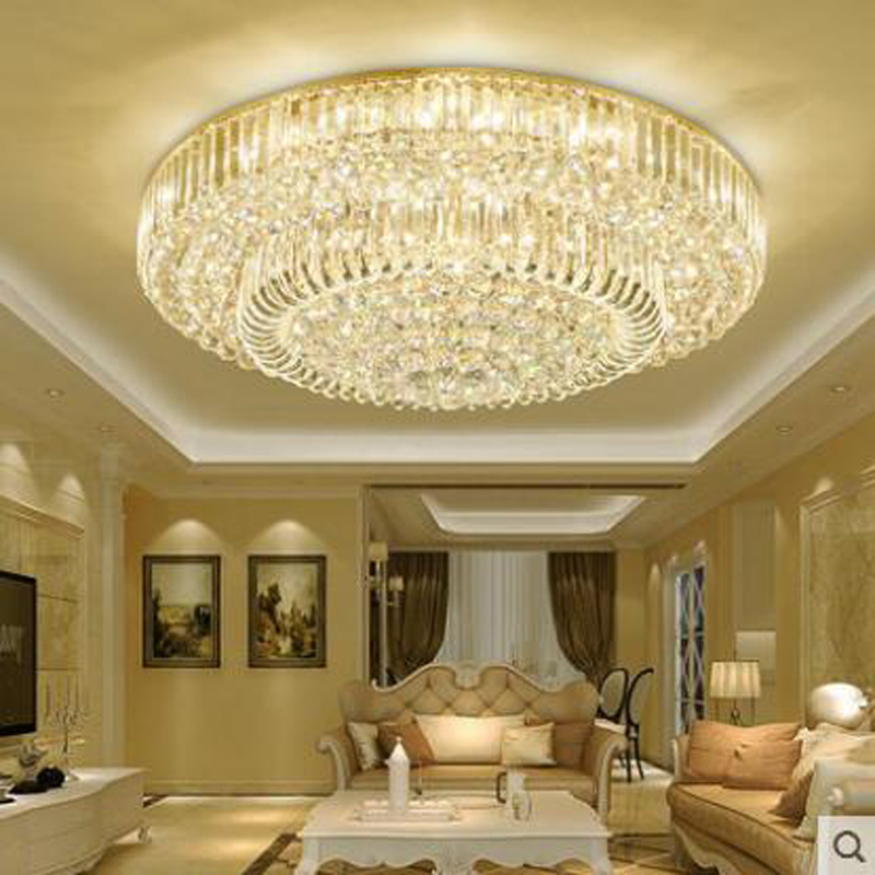 Living Room Crystal Lamps Continental Round LED Ceiling Lamps Atmosphere Dining Room Lamps Bedroom Lamps Modern Simple Lighting french villa crystal lamps living room chandelier bedroom lamps restaurant lamps alloy continental pendant glass zinc alloy led