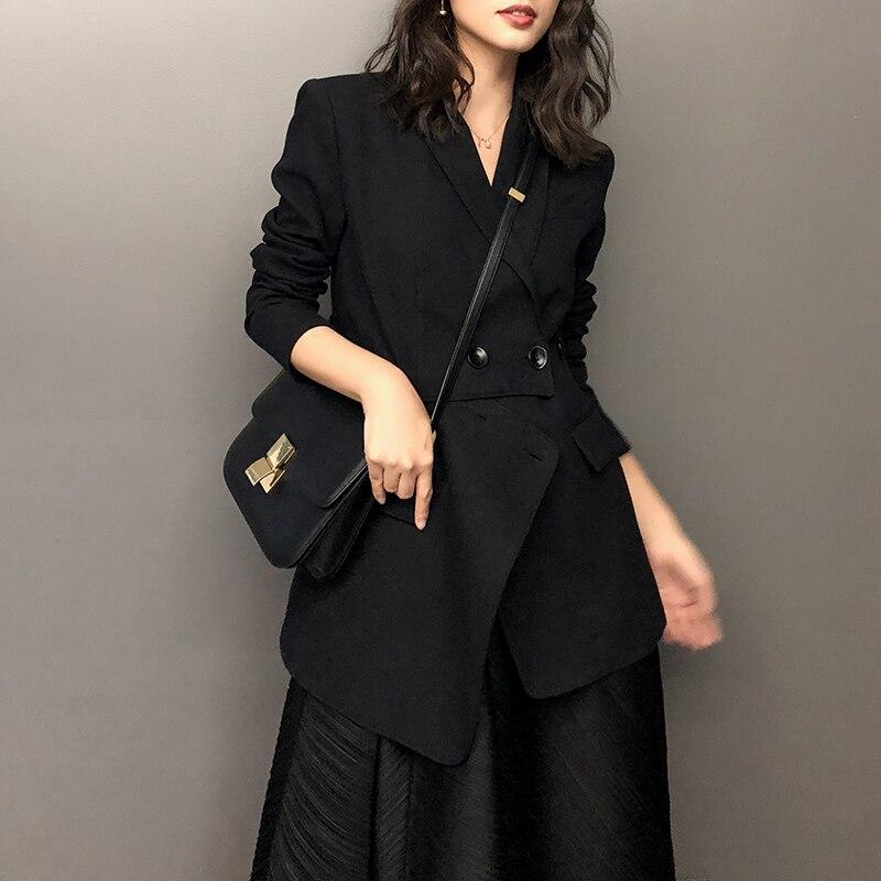 Fashion Brand Desinger Blazer Coat Black Office Lady Elegant Jacket Blazers Female Work Wear Casaco Feminino
