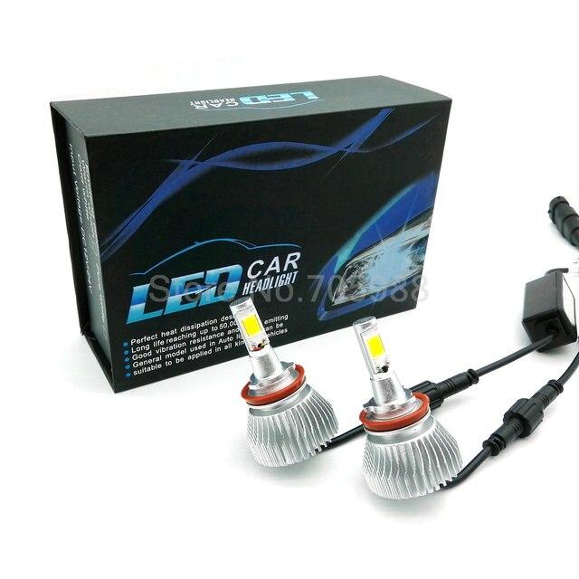 Coche CONDUCIDO Faros H7 LED H8/H9/H11 HB3/9005 HB4/9006 Bulbo H1 Auto Frente bombilla 80 W 5600LM Automóviles Faro 6000 K Blanco