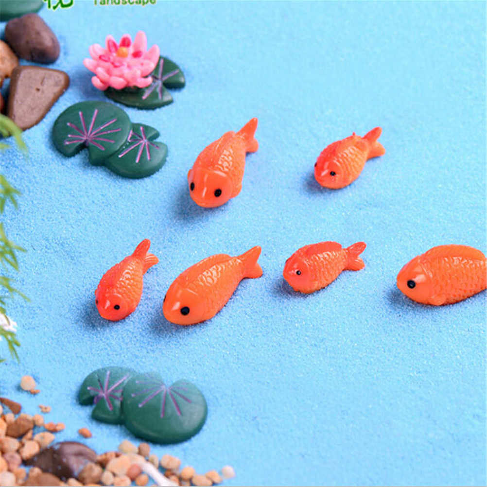 4Pcs Fish lotus Leaves Miniatures Garden Home Decoration Micro Landscaping Decor DIY Accessories