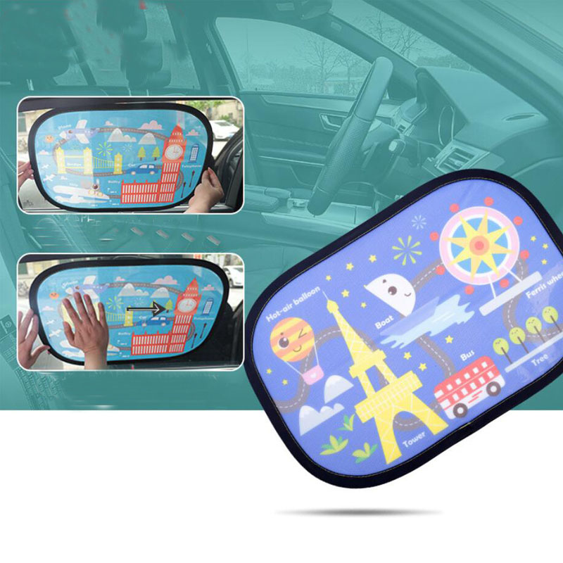 2PCS Car Sunshade Sunscreen Insulation Curtain Side Cover Summer Car windshield sunshades Mesh Electrostatic Film Auto Accessori in Windshield Sunshades from Automobiles Motorcycles