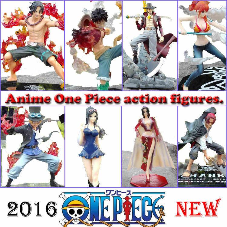 Japão Anime One Piece Roronoa Zoro Mihawk LUFFY Action Figure Hancock Onepiece em saco de PVC