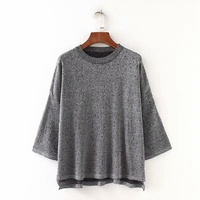 6 Colors Thin Women Sweater For Spring Autumn Casual Three Quarter Sleeve Loose Hollow Out Sweater