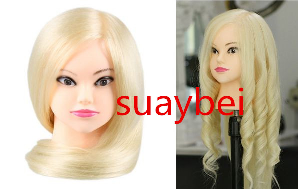 Hair Styling Mannequin Head: About 60cm 85% Natural Hair Mannequin Head Doll Head With