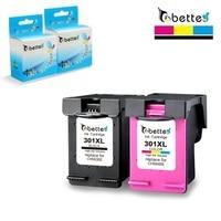BETTE Ink Cartridges Replace for HP 301 301XL Deskjet 1000 1010 1510 2000 2050 2150 2510 2540 3050 3150 4639 ENVY 5532 5535 5539