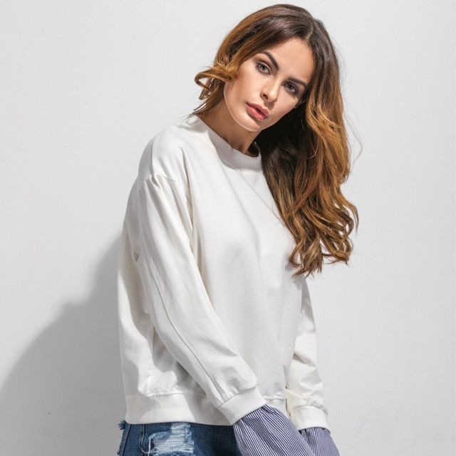 Hot Selling New Fashion Ladies Crew Neck Sweatshirt Casual Bat type sleeves Long Sleeve Top Free Shipping Wholesale