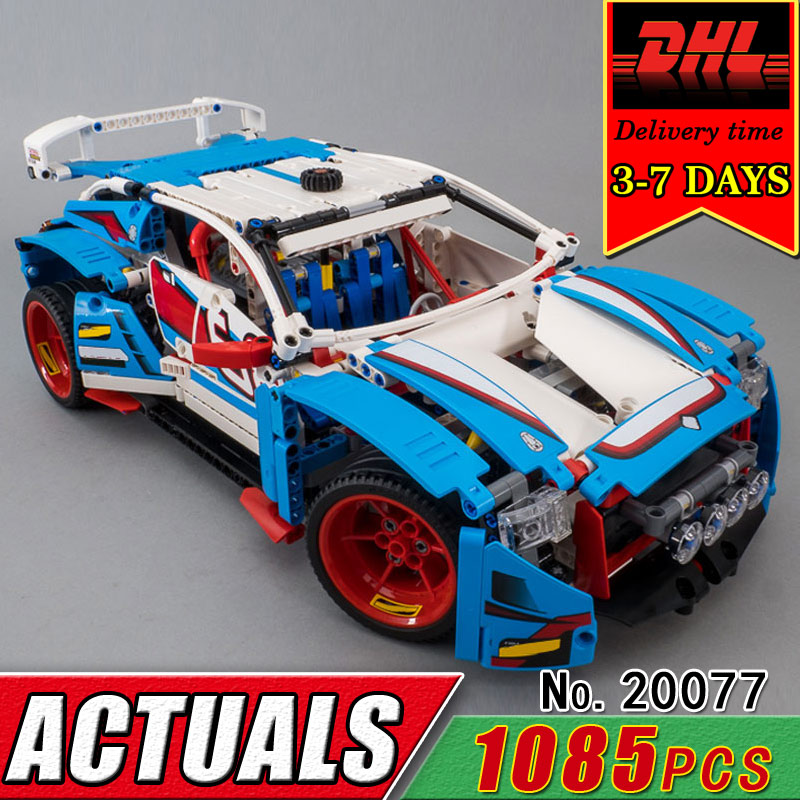 DHL LEPIN 20077 Technic Series The Rally Car Model Set Compatible 42077 Building Blocks Bricks Children Educational Classic Toys lepin 20031 technic the jet racing aircraft 42066 building blocks model toys for children compatible with lego gift set kids