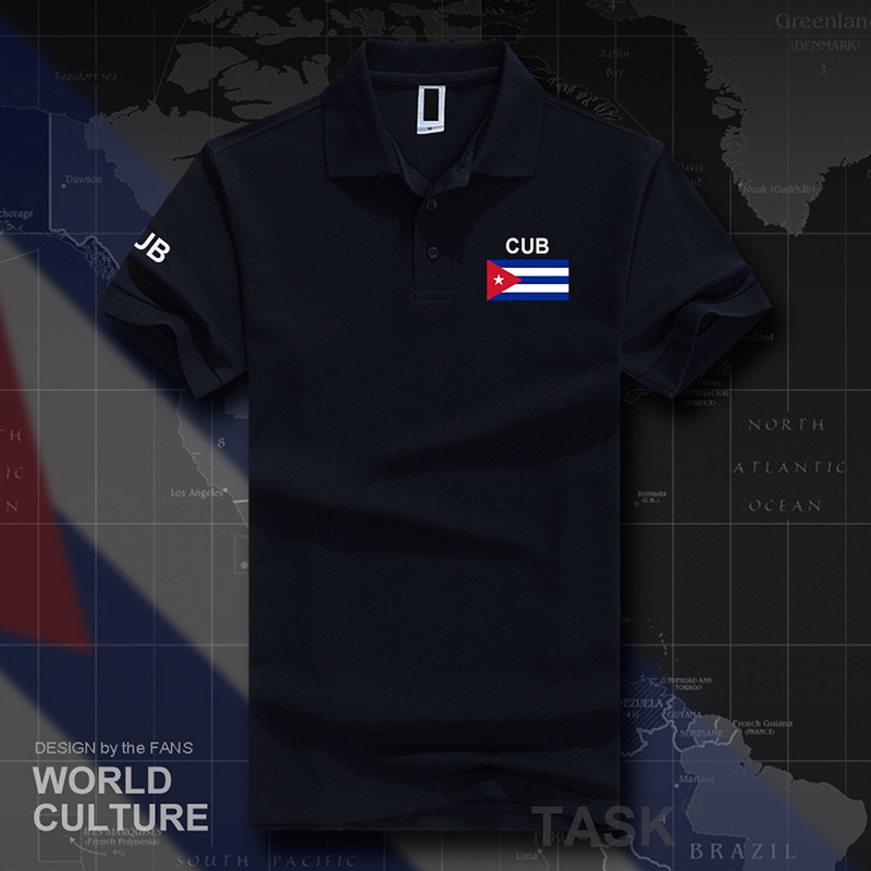 Cuba Cuban   polo   shirts men short sleeve white brands printed for country 2017 cotton nation team flag new fashion casual CU CUB