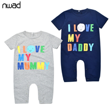 NWAD Baby Jungen Mädchen Kleidung Set Sommer Neugeborenes Baby Kleidung Kurz Baumwolle Einteiliges Set FF055