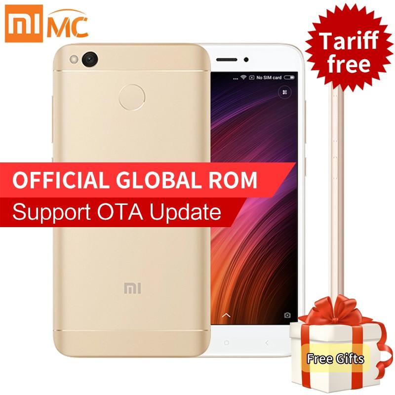 "bilder für Original Xiaomi Redmi 4X4X3 GB 32 GB Smartphone 5,0 ""HD Snapdragon 435 Octa-core 4100 mAh 13.0MP Globale ROM 4G LTE OTA MIUI 8,2"
