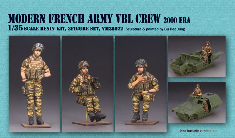 1/35 Modern French Army Crew Soldier    Toy Resin Model Miniature Kit Unassembly Unpainted