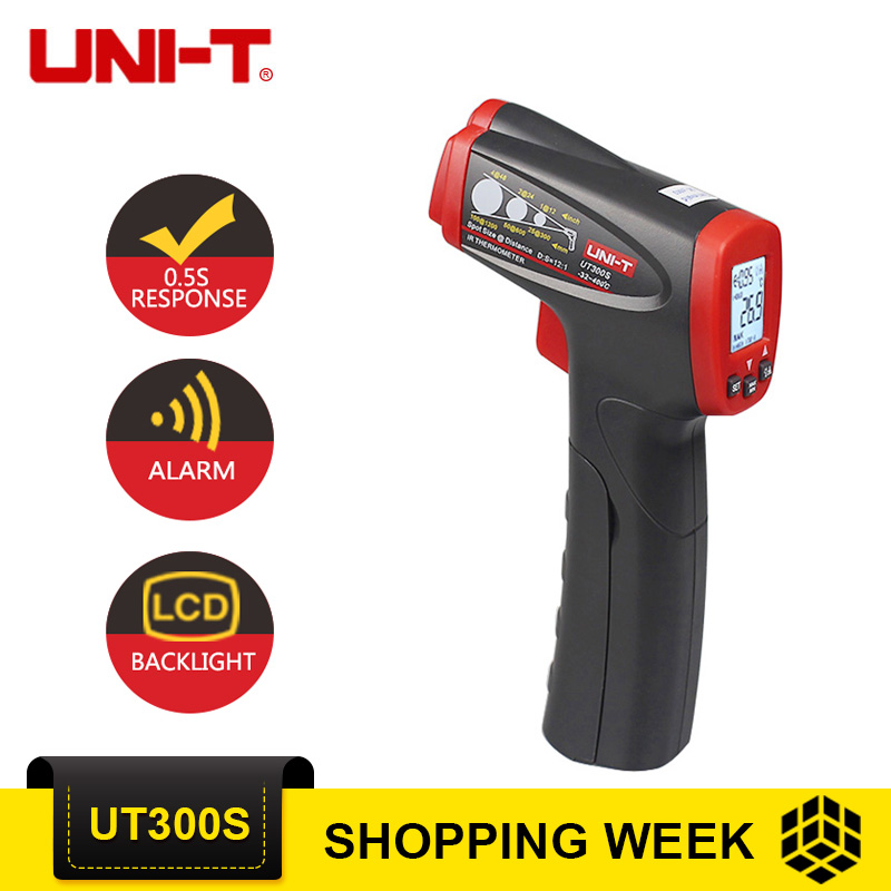 UNI-T UT300S Non-contact Temperature Instruments Handheld LCD Temperature Laser Gun Digital Infrared Thermometers uni t ut300s non contact infrared thermometer digital ir thermometer handheld lcd temperature laser gun