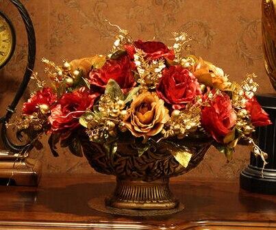 Искусственный цветок набор, искусственный цветок украшение, Шелковый цветок розы украшение стола. Рождественские украшения для дома - 2