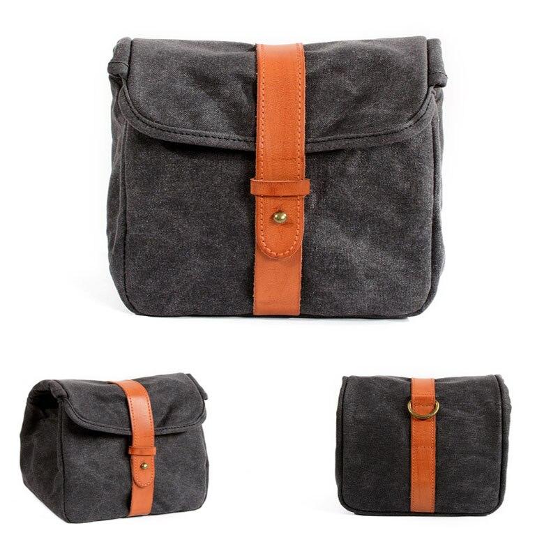 Canvas shoulder Messenger Bag Photo Camera Waterproof   Men Women Case Pack for Camera Bag Camera/Video Bags     - title=