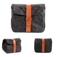 Canvas shoulder Messenger Bag Photo Camera Waterproof Men Women Case Pack for Camera Bag