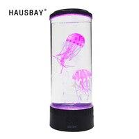 LED Jellyfish Little Fish Night Light Home Decoration Novelty Jellyfish Lamp Innovative Relaxing Table Decor Mini Aquarium NL01