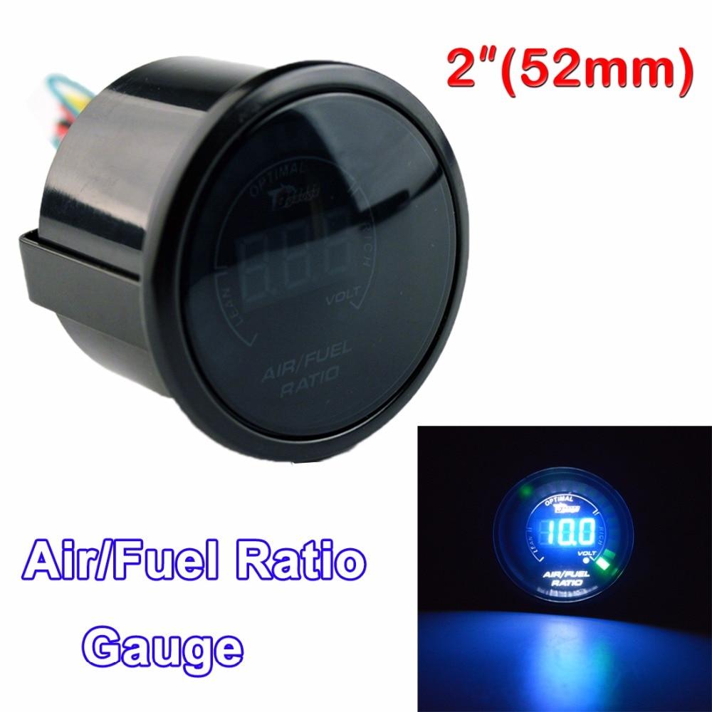 dragon gauge car gauge 2 52mm air fuel ratio gauge car meter blue led [ 1000 x 1000 Pixel ]