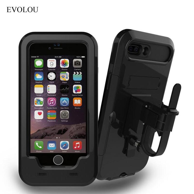 Waterproof Bike Phone Holder Motorcycle Telephone Support Stand for <font><b>Iphone</b></font> 7 7 Plus 6s SE 5s Shockproof Cases for <font><b>Iphone</b></font> Holder