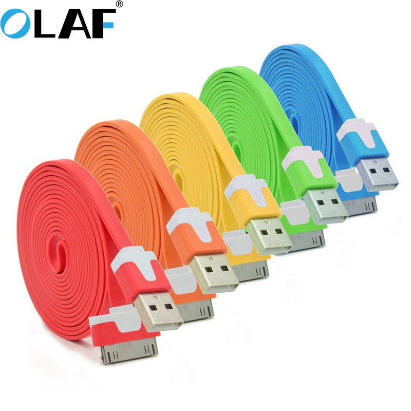 For iPhone Cable Fast Data Charging USB Cable Micro Date 30 pin USB Charger Cable For iphone 4 4S 3GS iPad 1 2 3 Charge Cables