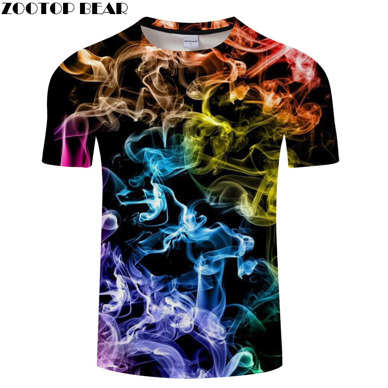 Flame&Smoky 3D t shirt Men tshirt Summer T-Shirt Casual Top Short Sleeve Tees O-neck Streetwear Groot Print DropShip ZOOTOPBEAR