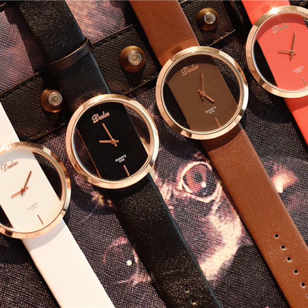 Women Quartz Relogio Feminino Classic Casual Quartz Watch Featured Hollow Leather Watches Creative Bayan Kol Female 2018 B40