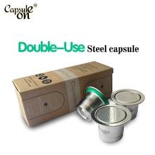 capsulone compatible capsule for nespress ocoffee machine/espresso reusable coffee capsule/ sticker lids refillable capsules
