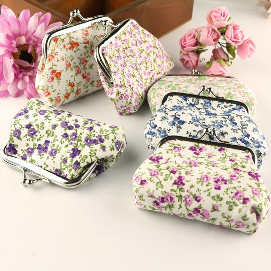 Women Coin Bag Lady Retro Vintage Floral Small Wallet Hasp Purse Clutch Bag Monederos Para Mujer Monedas coin purses women purse for coins children s wallet kids wallets cats fashion small bag gato monederos mujer monedas carteira