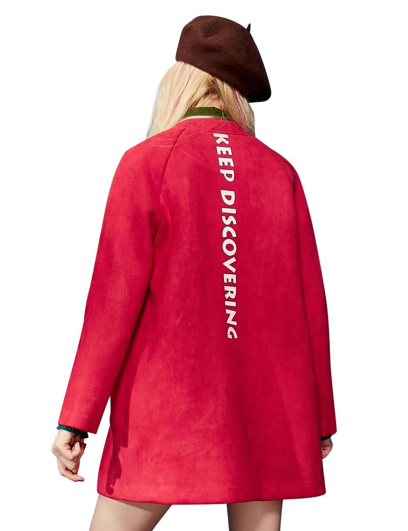 SkyRot Oberbekleidung Wolle Winter P Farbblock Mittellange Lackierter Baseball Pu Leder Saum Elf Frau Weiblicher Bag sdhrCtQ