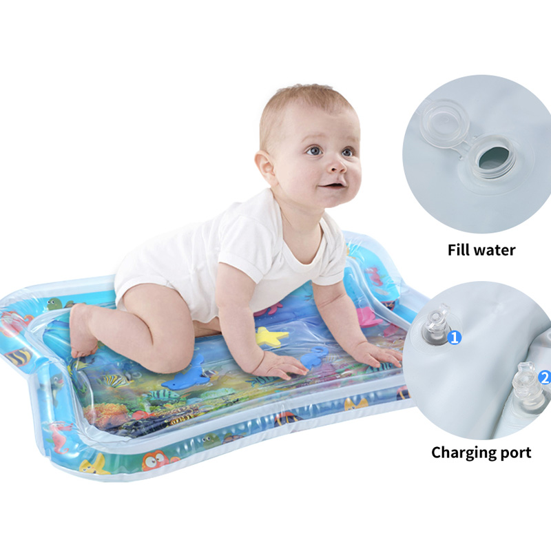 Inflatable Baby Water Mat Infant Tummy Time Playmat Toddler Fun Activity Play Center For Sensory Stimulation For Babies Bpa Free